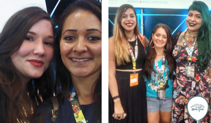 Natália Bridi - caxiense no Omelete! +As meninas do Indiretas do Bem.